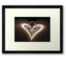 Love Cast Upon Words Framed Print