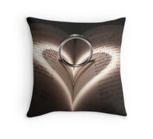 Love Cast Upon Words Throw Pillow