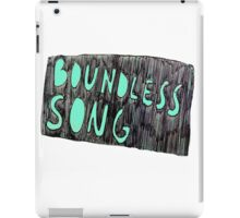 boundless song iPad Case/Skin