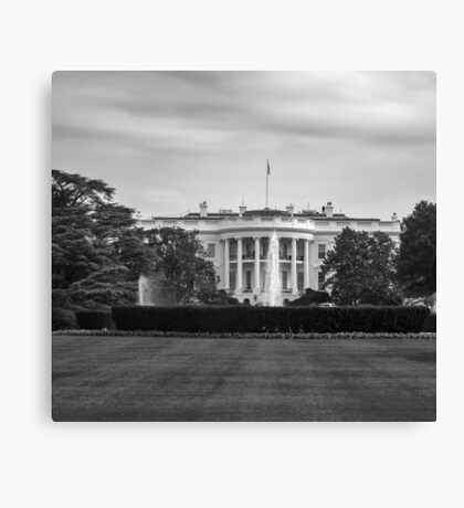 Black and white The White House Canvas Print