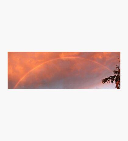 Sunset Storm Rainbow Photographic Print
