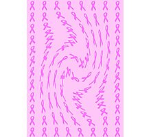 Pink Ribbon for Breast Cancer Twist Abstract Photographic Print