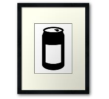 Black can Framed Print