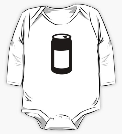 Black can One Piece - Long Sleeve