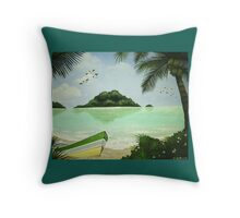 Afternoon Lagoon Throw Pillow