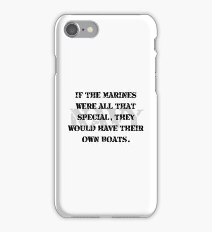 Navy Marines Boats iPhone Case/Skin