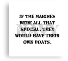 Navy Marines Boats Canvas Print