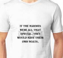 Navy Marines Boats Unisex T-Shirt