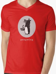 Pengwing Mens V-Neck T-Shirt