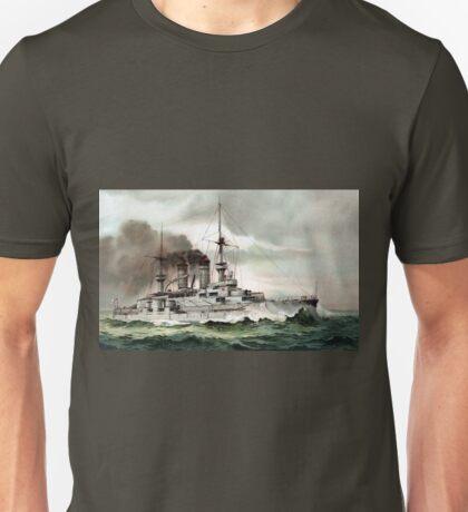 Vintage SMS Zähringen German Imperial Warship Unisex T-Shirt