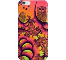 Sunset Owls Forest iPhone Case/Skin