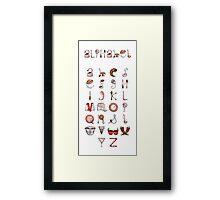 Spills & Spoons Alphabet Framed Print