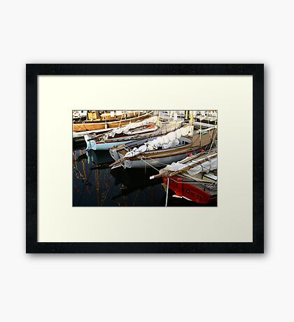 Wooden Boat Reflections #3 Framed Print