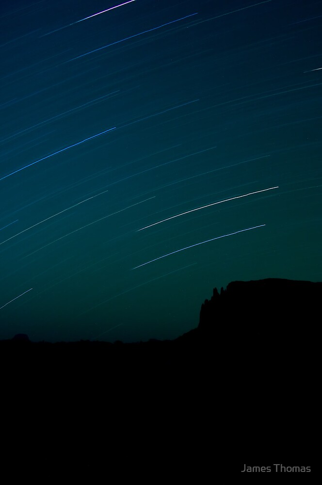 Star Trails over Mt. Oakliegh by James Thomas