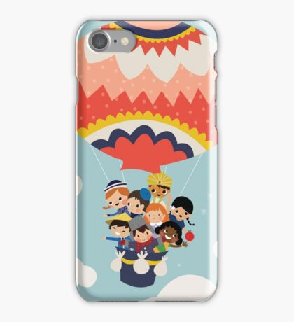 It's Our Small Little World Hot Air Balloon Kids iPhone Case/Skin