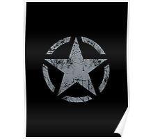 Star Stencil Vintage Jeep Decal Grunge Style Poster