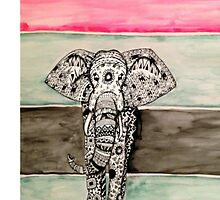 Elephant Tribal Zentangle by madisoncenter
