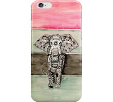 Elephant Tribal Zentangle iPhone Case/Skin