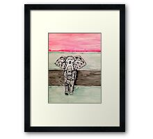 Elephant Tribal Zentangle Framed Print