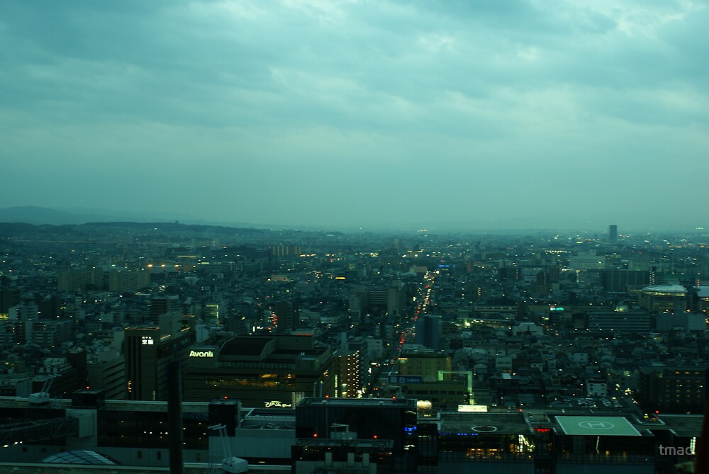 Japan - Kyoto at Dusk, from Tower 1 by tmac