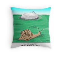 snail hide and seek  Throw Pillow