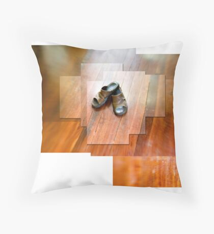 Slippers Throw Pillow
