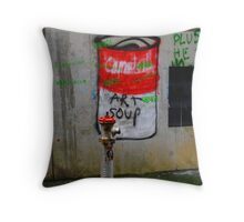 campbells soup Throw Pillow