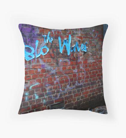 the Blo Waves Throw Pillow