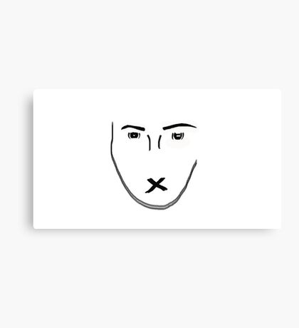 brush face  Canvas Print