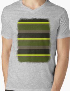 Cactus Garden Stripes 5H Mens V-Neck T-Shirt