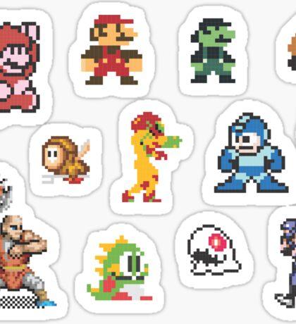 8-bit Characters Sticker Sheet Sticker