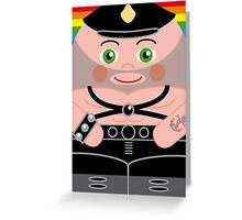 Leather Man Hero Hugger Greeting Card
