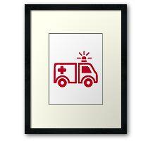 Ambulance car Framed Print