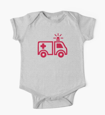Ambulance car One Piece - Short Sleeve