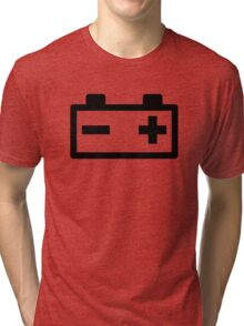 Battery symbol Tri-blend T-Shirt