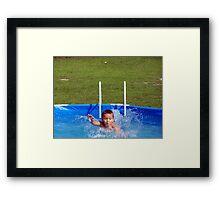 swim kiddo, swim Framed Print