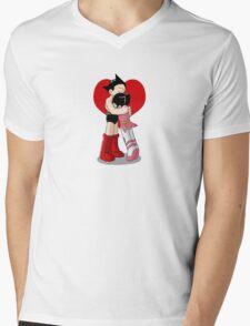 Astro and Zoran Hug Mens V-Neck T-Shirt