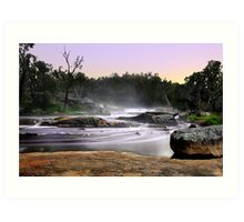 Noble Falls At Dawn Art Print