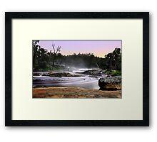 Noble Falls At Dawn Framed Print