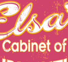 Fraulein Elsa's Cabinet Of Curiosities Freak Show Sticker