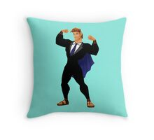 Hercules in a Suit Throw Pillow