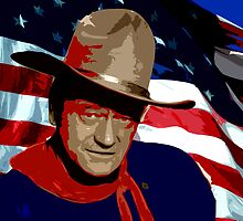 John Red White and Blue Wayne by Tracy Lee Mead