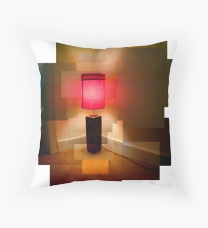 Red Lamp Throw Pillow
