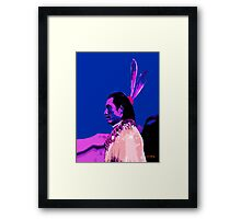 Chief with Blue Sky Framed Print