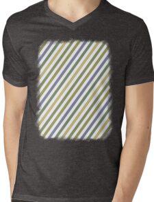Cactus Garden Stripes 1B Mens V-Neck T-Shirt
