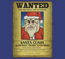 Santa Claus Wanted Poster T-Shirt