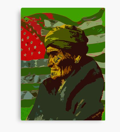 Geronimo In Deafeat Canvas Print