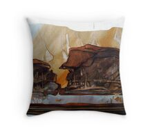 outback landscape Throw Pillow