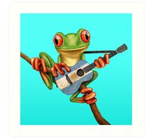 Tree Frog Playing Argentinian Guitar Art Print