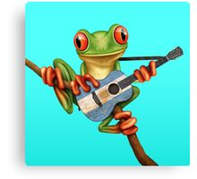Tree Frog Playing Argentinian Guitar Canvas Print
